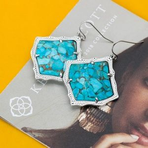 Kendra Scott Kirsten Earrings Bronze Turquoise